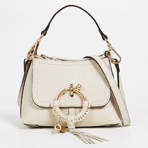 See by Chloe Plain Leather Office Style Shoulder Bags