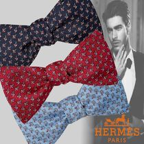 HERMES Silk Bridal Logo Ties