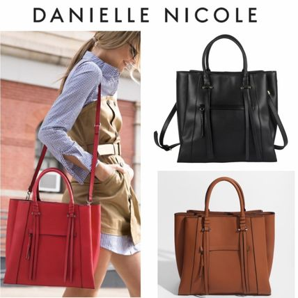 Casual Style 2WAY Plain Office Style Elegant Style Totes