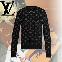 Louis Vuitton Crew Neck Monogram Nylon Long Sleeves Cotton