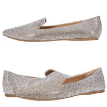 Steve Madden Leather With Jewels Office Style Pointed Toe Shoes