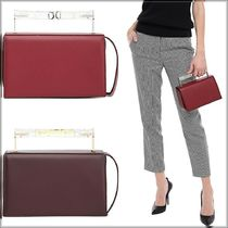 AEVHA LONDON Casual Style Calfskin Vanity Bags 2WAY Plain Party Style