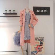 Stand Collar Coats Casual Style Long Party Style