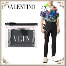 VALENTINO Bag in Bag Leather PVC Clothing Logo Bags