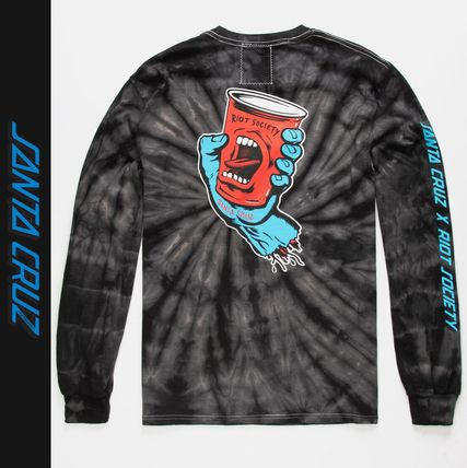 Crew Neck Tie-dye Collaboration Long Sleeves