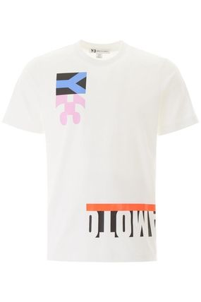Y-3 More T-Shirts Street Style Cotton Short Sleeves Logo T-Shirts 3