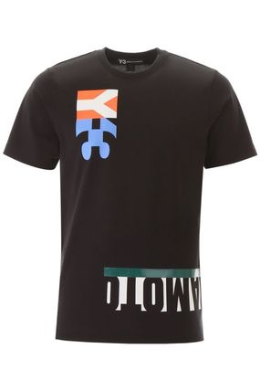 Y-3 More T-Shirts Street Style Cotton Short Sleeves Logo T-Shirts 6