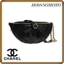 CHANEL Casual Style Unisex Studded Street Style 2WAY Chain Plain