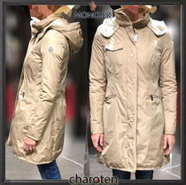 MONCLER Casual Style Nylon Street Style Plain Long Party Style