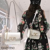 VALENTINO Leather Elegant Style Crossbody Shoulder Bags