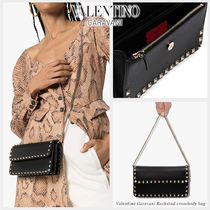 VALENTINO Casual Style Blended Fabrics Studded 2WAY Bi-color Chain