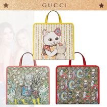 GUCCI GG Supreme Unisex Collaboration Kids Girl Bags