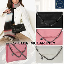 Stella McCartney FALABELLA Casual Style Faux Fur Chain Plain Elegant Style Crossbody