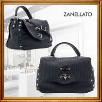 ZANELLATO Casual Style Studded Leather Party Style Office Style