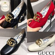 GUCCI Leather Elegant Style Pumps & Mules