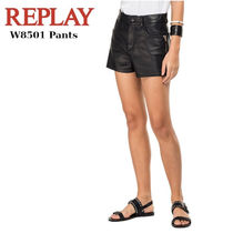 REPLAY Short Casual Style Plain Leather Elegant Style