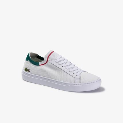 Plain Other Animal Patterns Leather Logo Sneakers