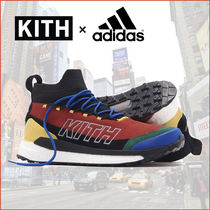 KITH NYC Unisex Street Style Collaboration Leather Logo Sneakers