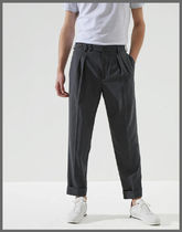 BRUNELLO CUCINELLI Tapered Pants Wool Plain Tapered Pants