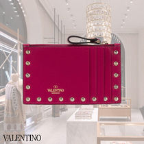 VALENTINO Leather Long Wallet  Small Wallet Logo Coin Cases