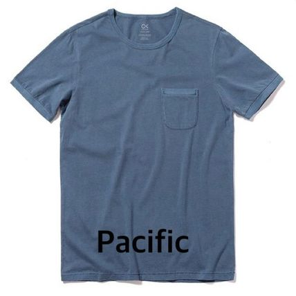 Street Style Plain Cotton Short Sleeves Surf Style T-Shirts