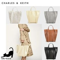 Charles&Keith Casual Style Faux Fur A4 2WAY Office Style Totes