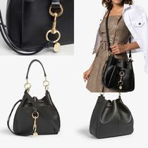 See by Chloe Casual Style 2WAY Plain Leather Crossbody Shoulder Bags