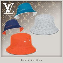 Louis Vuitton MONOGRAM Unisex Blended Fabrics Street Style Wide-brimmed Hats