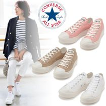 CONVERSE ALL STAR Star Platform Casual Style Street Style Plain Logo