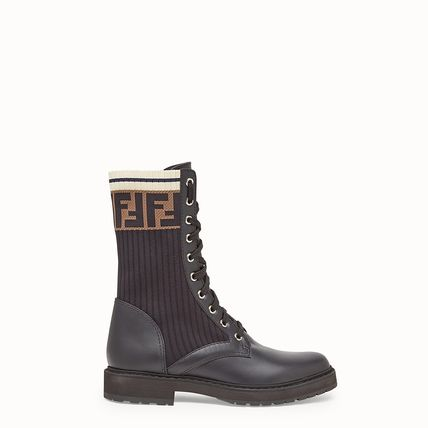 Monogram Rubber Sole Lace-up Casual Style Street Style Logo