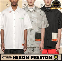 Heron Preston Camouflage Street Style Cotton Short Sleeves Oversized