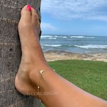 TATIROCKS Casual Style Chain Handmade Silver Elegant Style Anklets