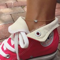 Casual Style Chain Handmade Silver Elegant Style Anklets