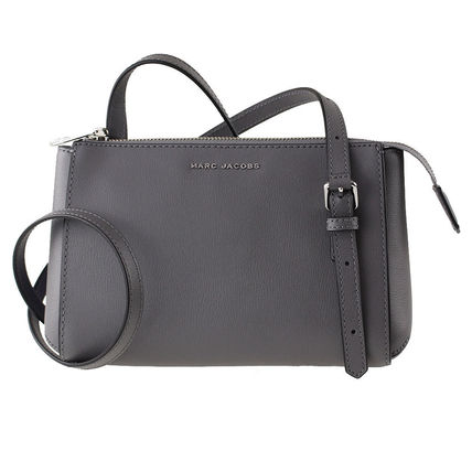 Plain Leather Crossbody Logo Shoulder Bags