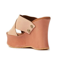 See by Chloe Platform Round Toe Casual Style Studded Plain Leather