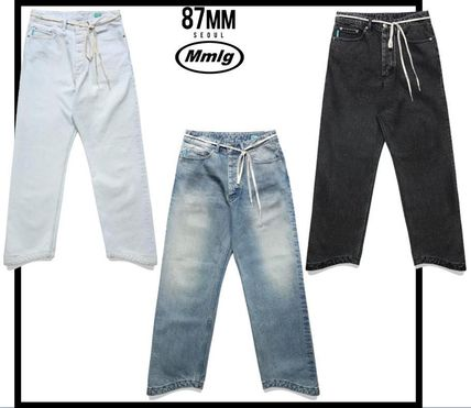 87MM More Jeans Unisex Street Style Jeans