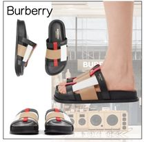 Burberry Casual Style Party Style Flip Flops Elegant Style Slippers
