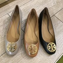 Tory Burch Round Toe Casual Style Plain Leather Office Style
