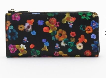 Paul Smith Flower Patterns Leather Long Wallet  Logo Long Wallets