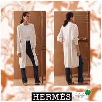HERMES Casual Style Cashmere Silk Cashmere