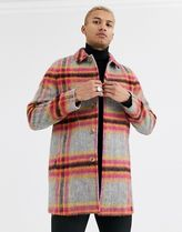 ASOS Other Plaid Patterns Wool Street Style Long Trench Coats
