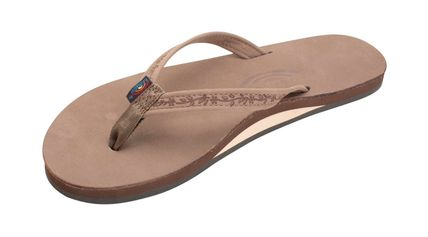Casual Style Blended Fabrics Leather Flip Flops Flat Sandals
