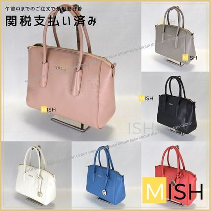 FURLA Casual Style 2WAY Plain Leather Party Style Crossbody