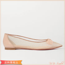 Christian Louboutin Suede Plain Sheer Pointed Toe Shoes
