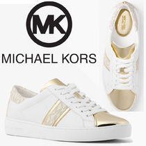 Michael Kors Monogram Lace-up Casual Style Plain Low-Top Sneakers