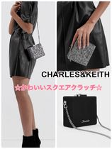 Charles&Keith Casual Style Suede Faux Fur 2WAY Chain Plain Party Style