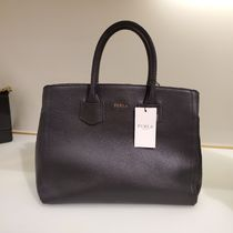 FURLA ALBA Casual Style 2WAY Plain Leather Office Style Crossbody