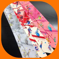 HERMES Silk Party Style Lightweight Scarves & Shawls