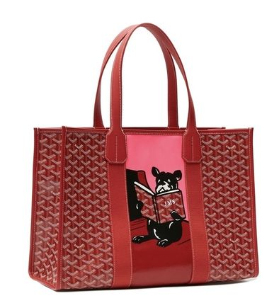 "GOYARD ""VILLETTE"" Yuro design canvas/leather tote bag 4color"