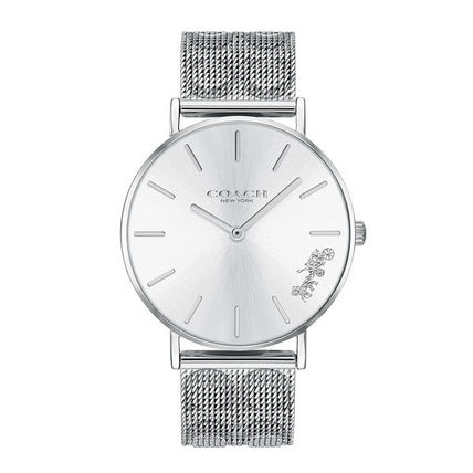 Coach Round Casual Style Quartz Watches Stainless Analog Watches